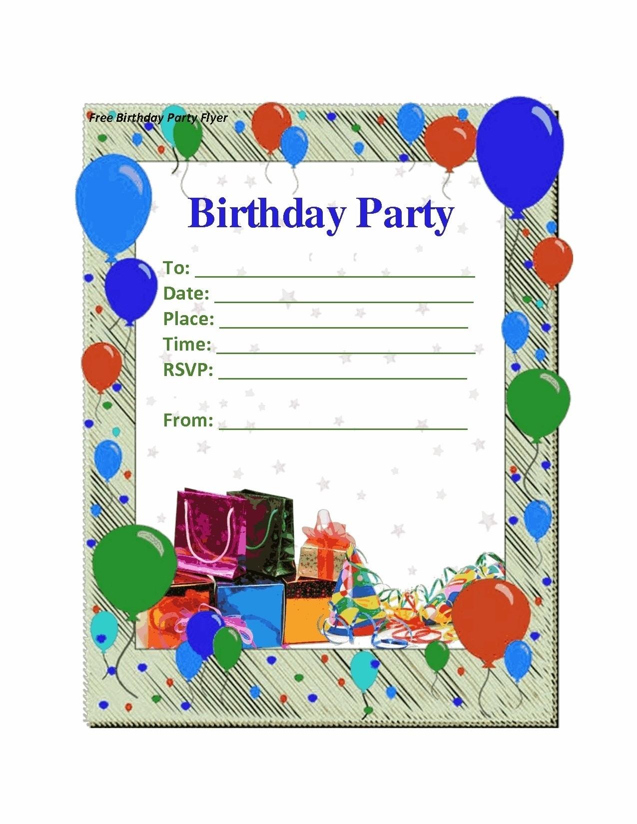 Birthday Party Invitation Card Template Lazine