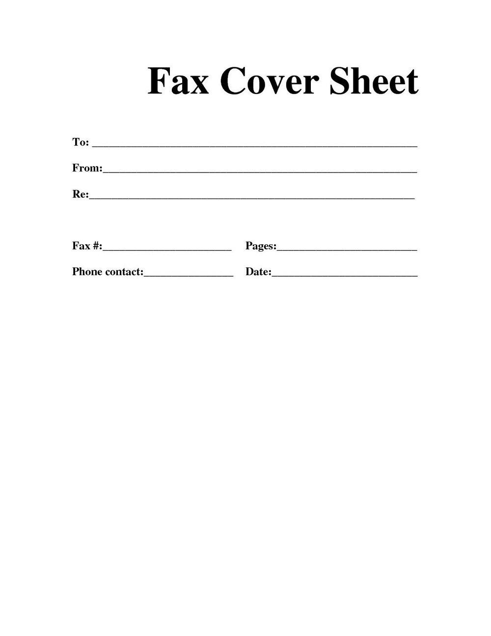 Blank Fax Cover Sheet Template Mbm Legal