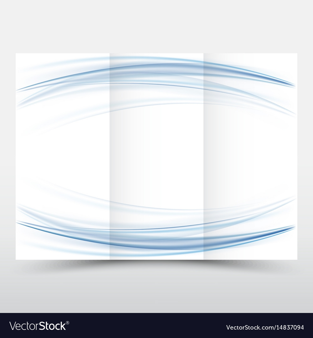 Blank Tri Fold Paper Brochure Design Template Vector Image