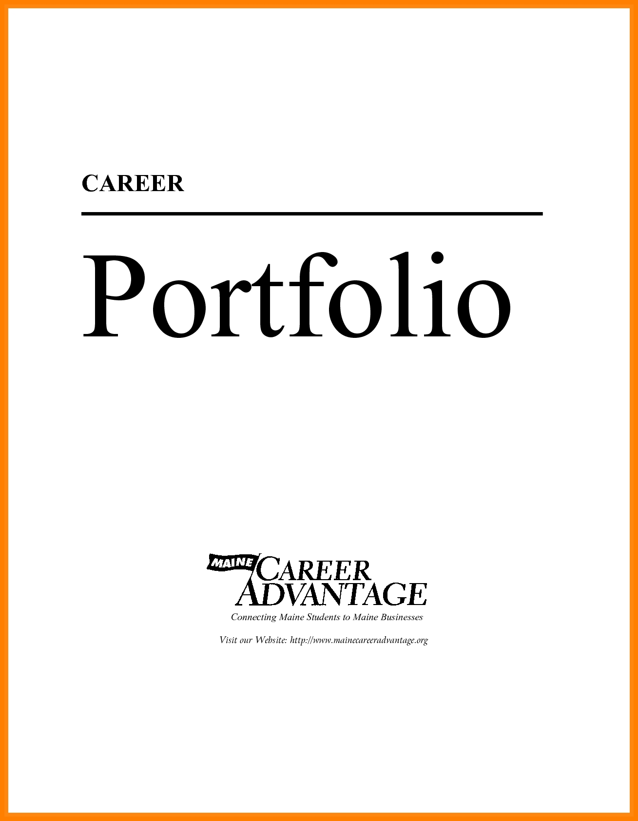Career Portfolio Cover Page Kleobergdorfbibco