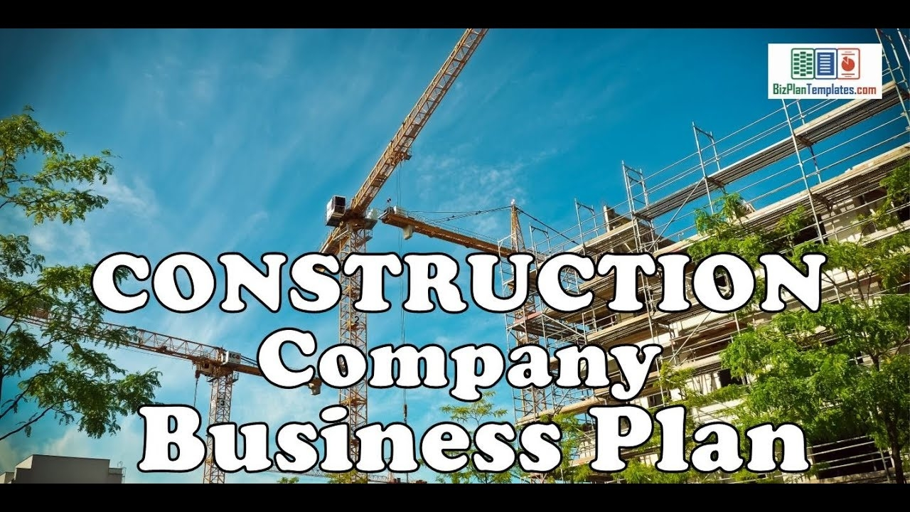 Construction Company Business Plan Template With Example Sample