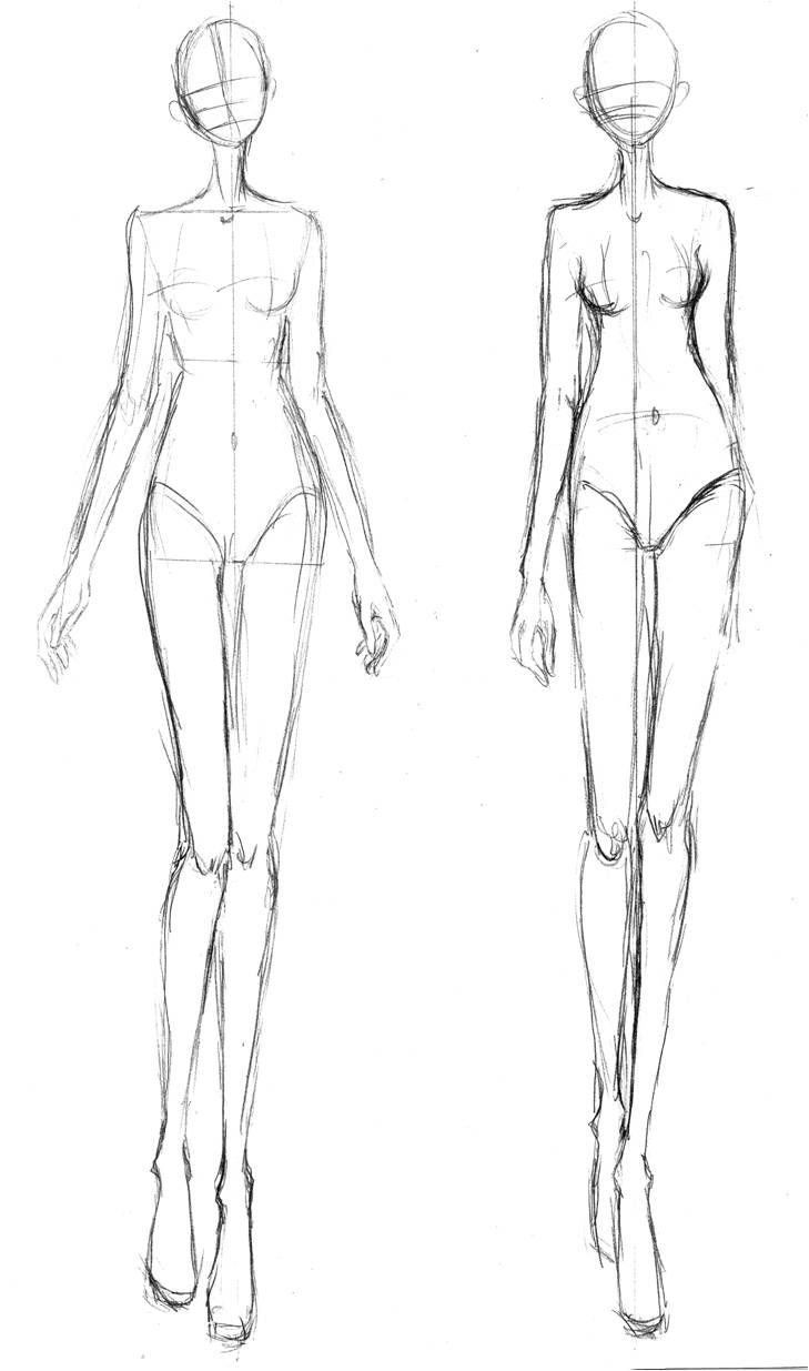 Croquis For A Long Skinny Figure Fashion Sketches In 2019