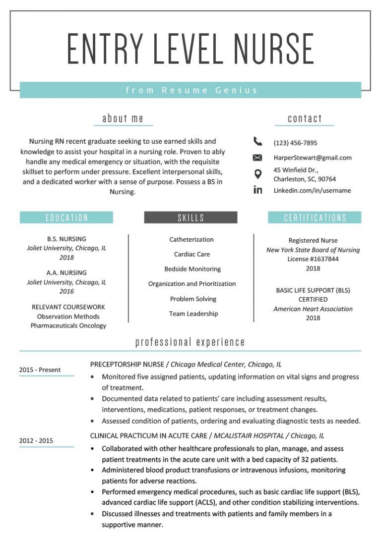 entry level nurse resume sample resume genius  qualads