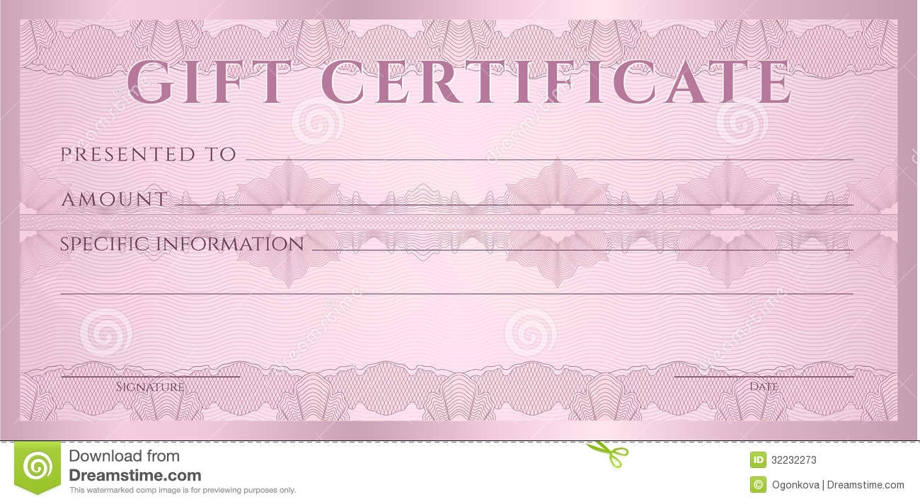 Fake Money Gift Certificate Template Blank Coupon Voucher Reeviewerco