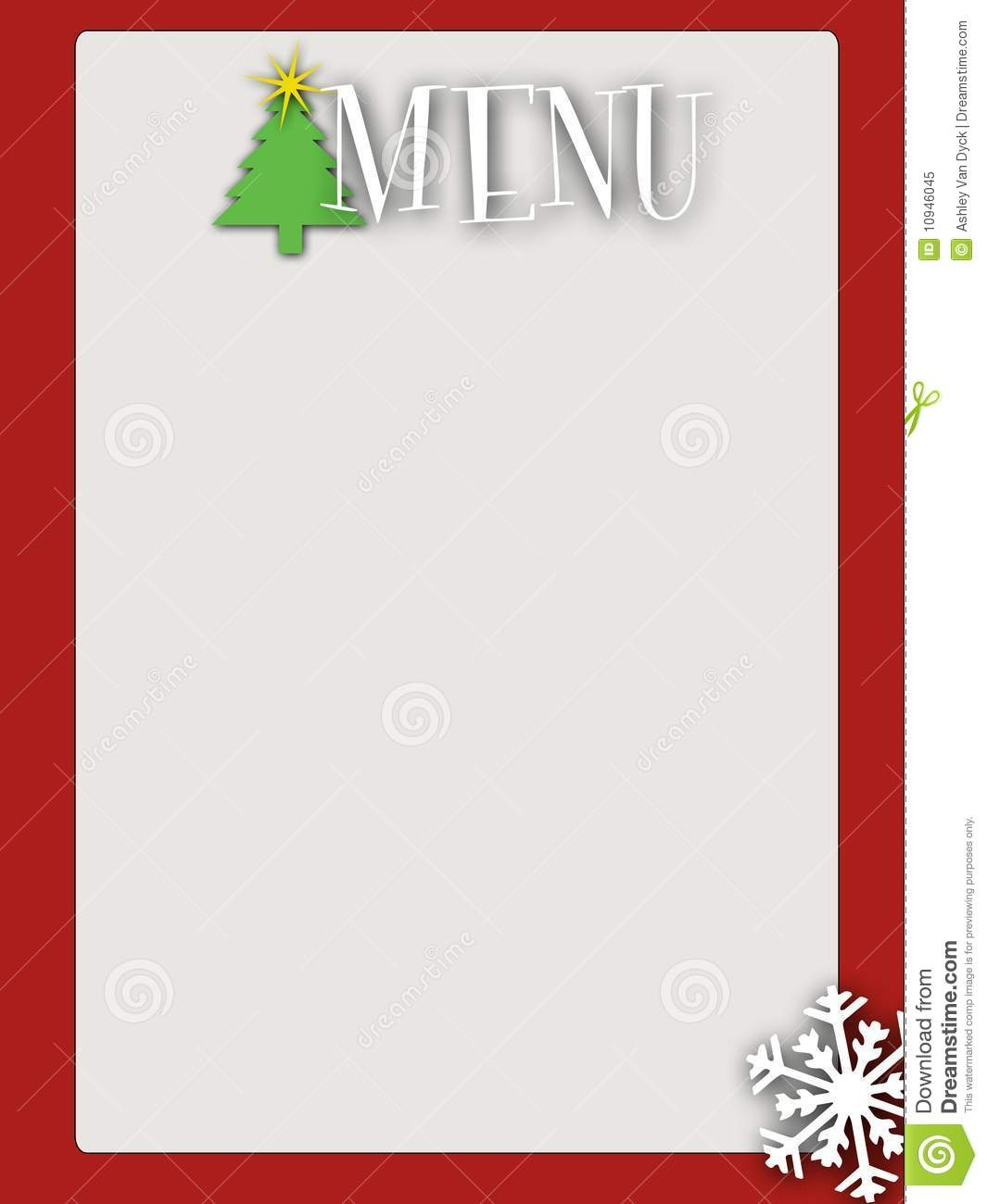 Free Blank Christmas Menu Templates Fun For Christmas Halloween
