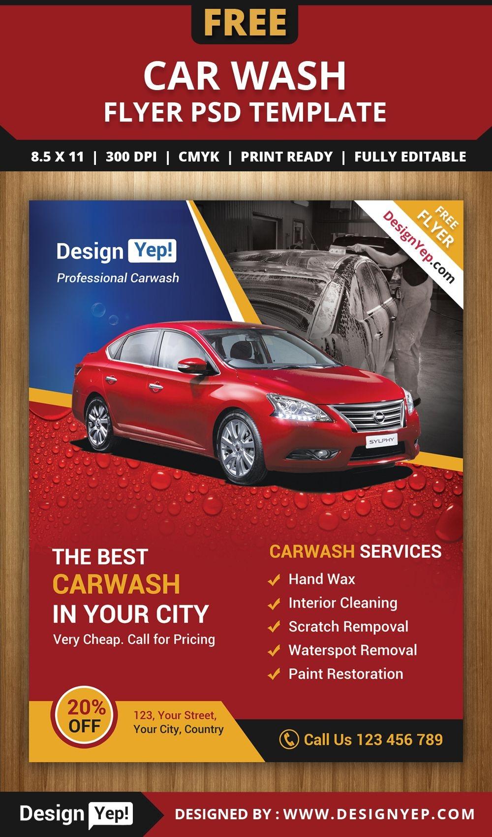 Free Car Wash Flyer Psd Template 3232 Designyep Free Flyers Car