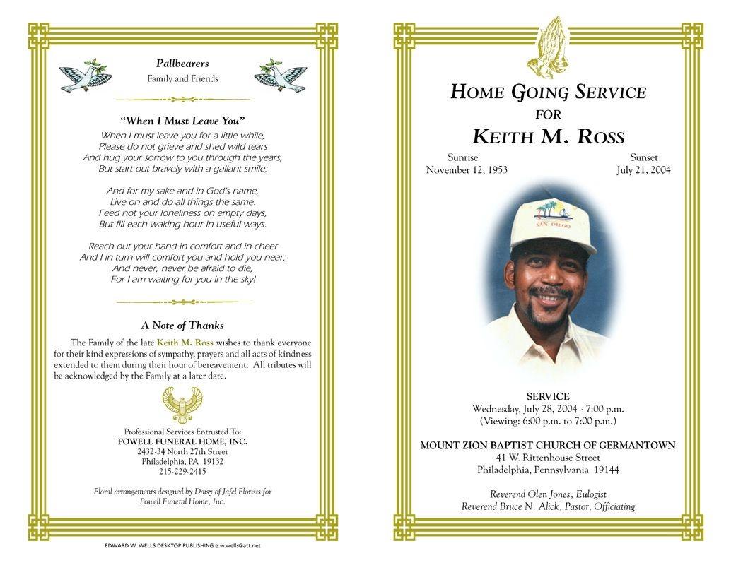 Free Funeral Program Templates Funeral Program Sample Order Of