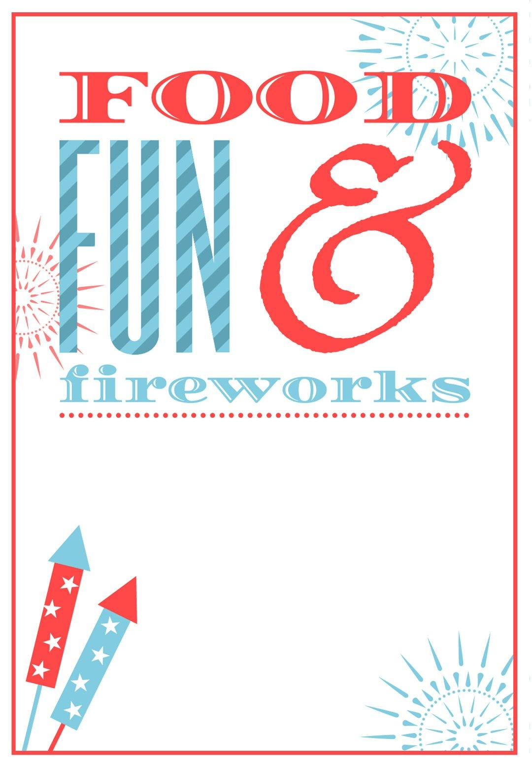 Free Printable 4th Of July Invitation July Fourth 4th Of July