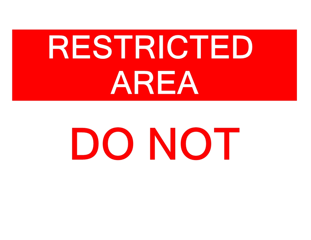 Free Restricted Area Do Not Enter Sign Templates At