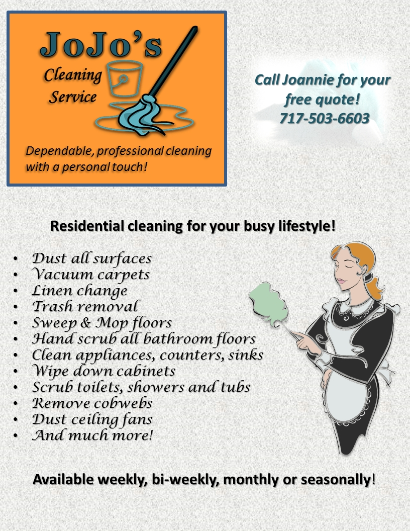 Jojos Cleaning Service Flyer Cleaning Service Cleaning Flyers