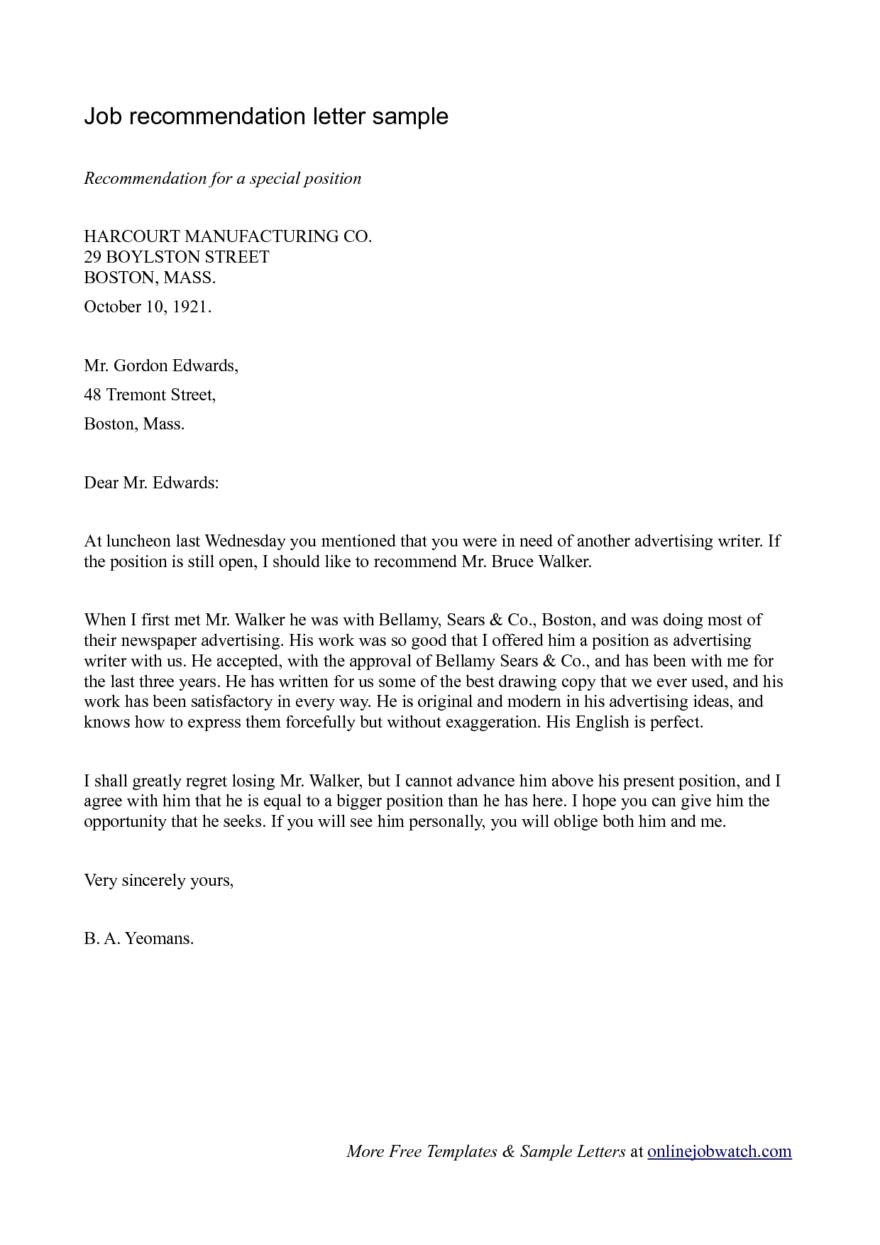 Simple Guide Professional Reference Letter With Samples