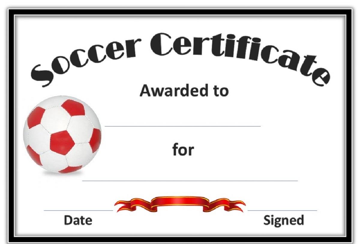Soccer Award Certificate Templates Underbergdorfbibco