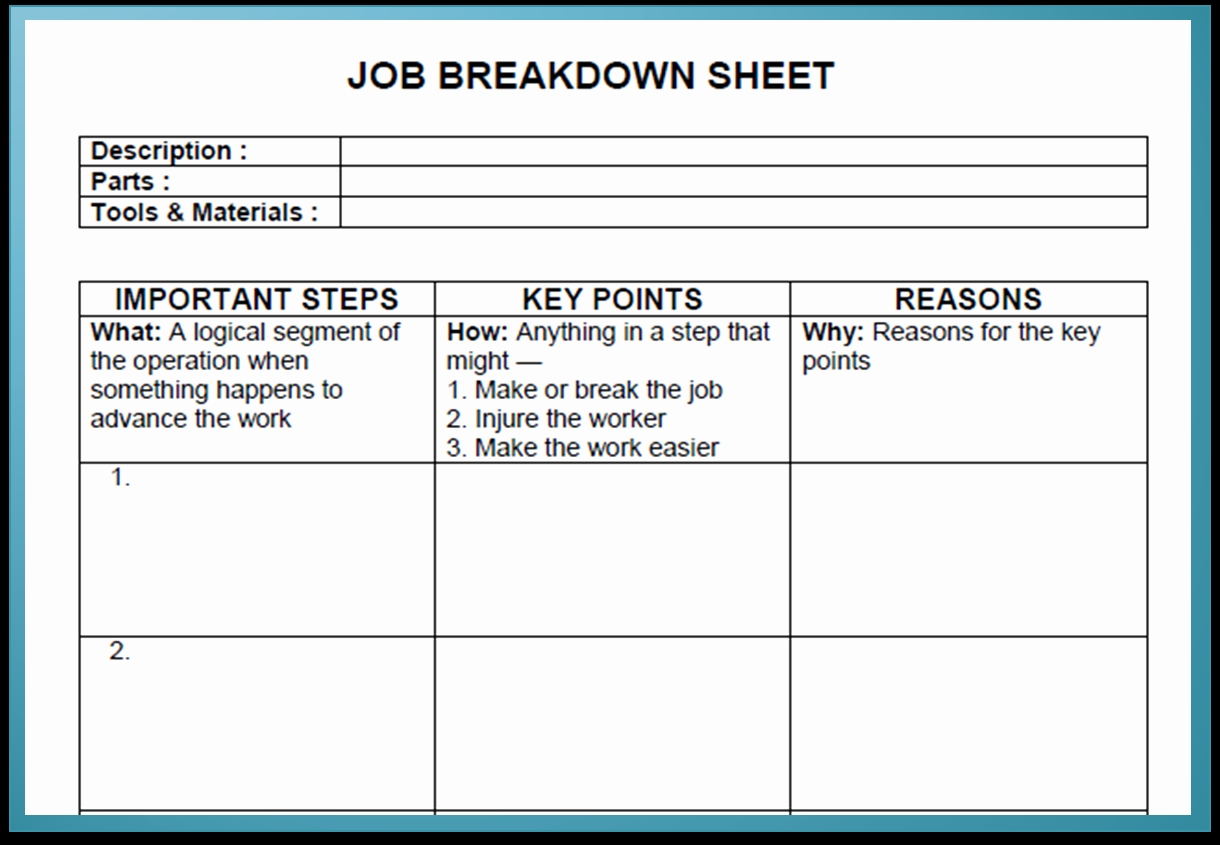 Standardized Work Instructions Template Cranfordchronicles