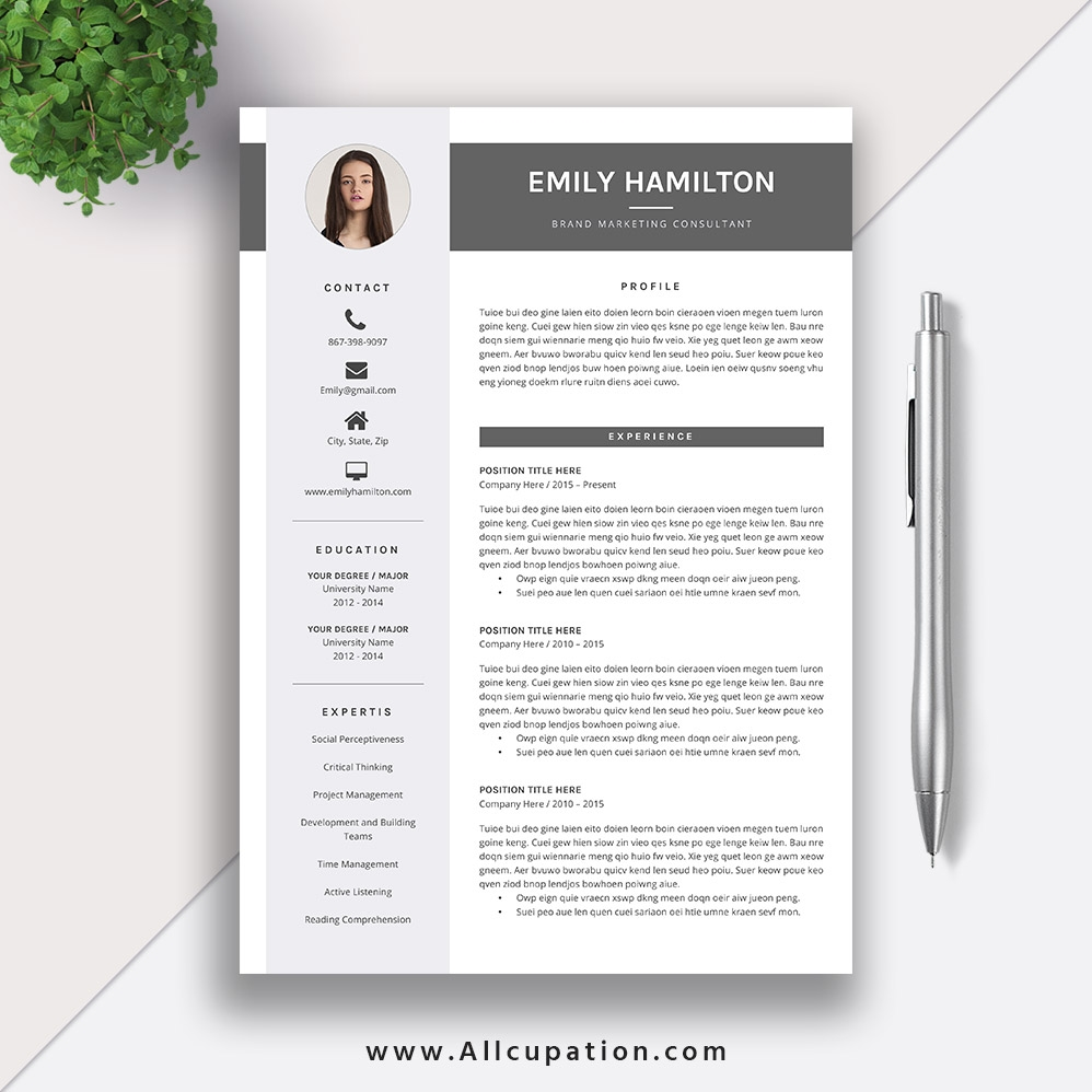 This Eye Catching Editable Word Resume Template For Instant Download