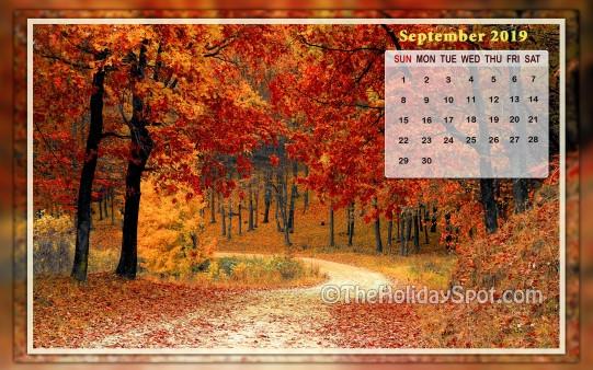 Calendar Wallpaper September 2019 Wallpapers From Theholidayspot