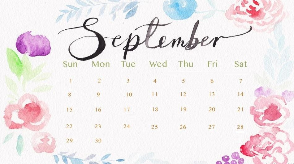 September 2019 Desk Calendar Wallpaper September September2019
