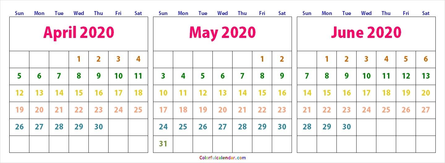 Cute April May June 2020 Calendar Wallpaper Free 2020 Calendar