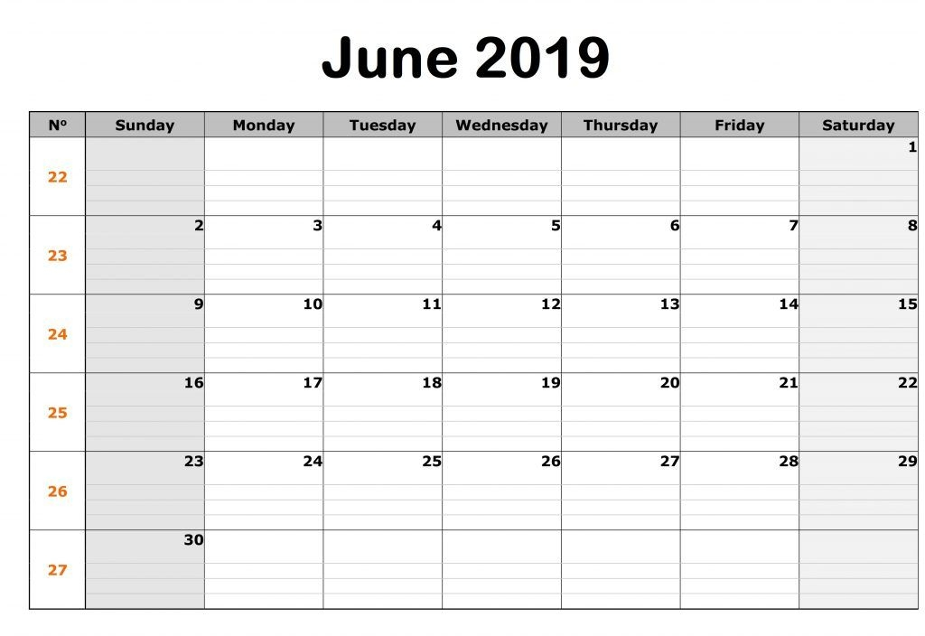 Editable June 2019 Calendar Free Printable Calendar Templates And