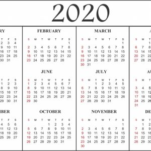 Free Printable Calendar 2020 Template In Pdf Excel Word Calendar Top