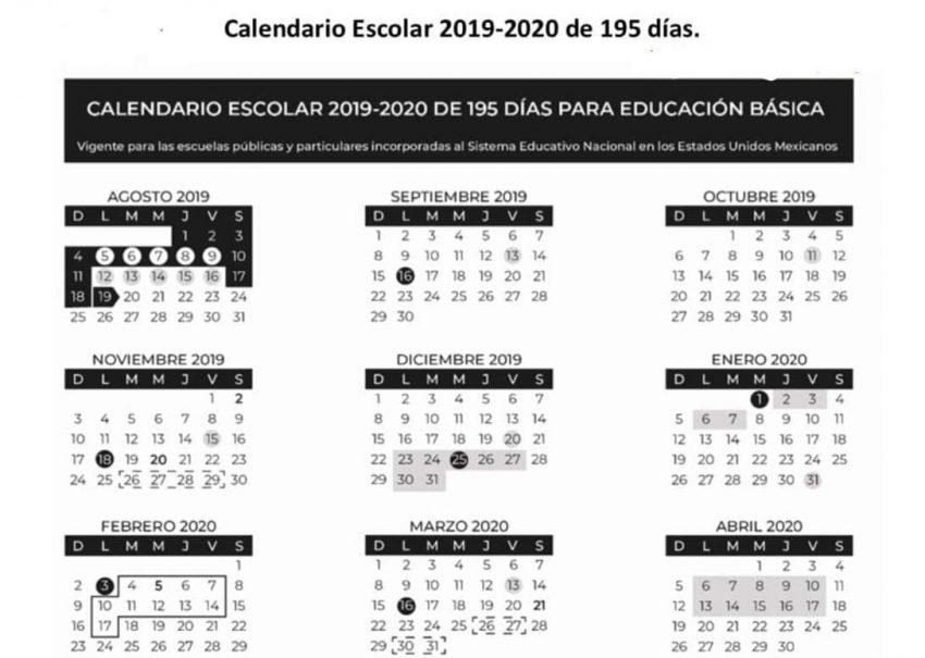 Listo El Calendario 2019 2020 Pero Contempla Cambios Noticiaspv