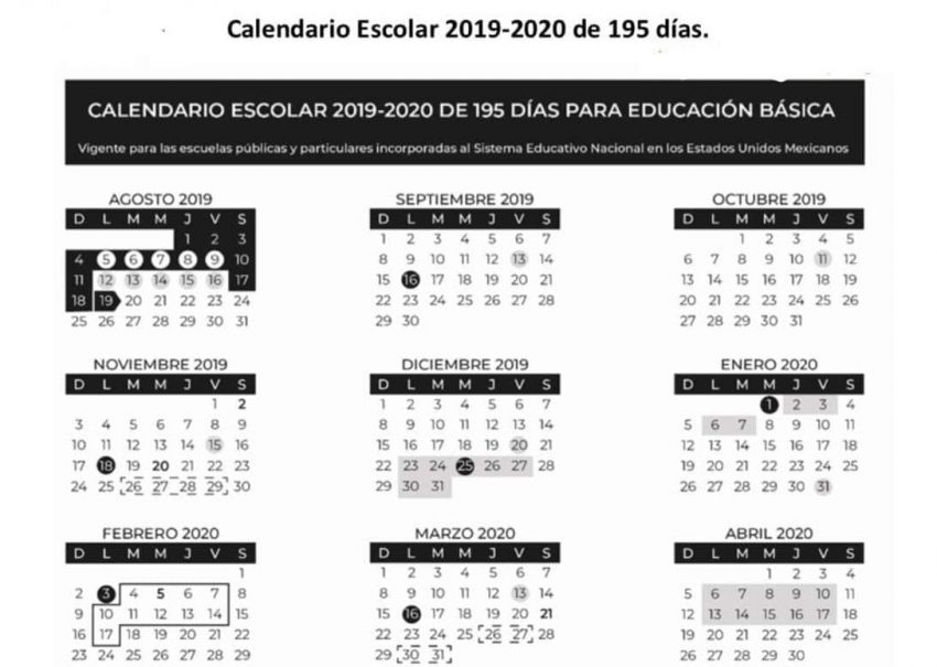 Listo El Calendario 2019 2020 Pero Contempla Cambios Noticiaspv