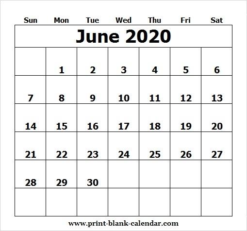 Printable Calendar June 2020 Template Pdf Excel Word Image