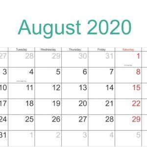 August 2020 Calendar With Holidays | August Calendar | Free