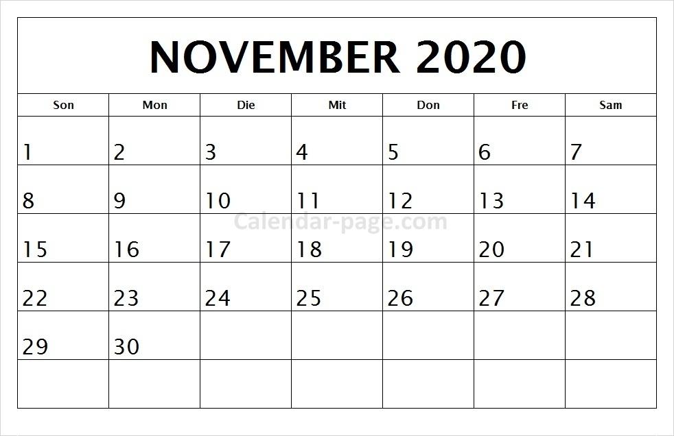 kalender november 2020  qualads
