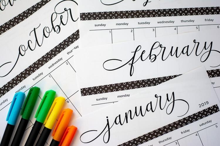 2020 And 2021 Free Printable Calendar And Template - Savor +