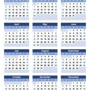 Download A Free Printable 2021 Yearly Calendar From Vertex42