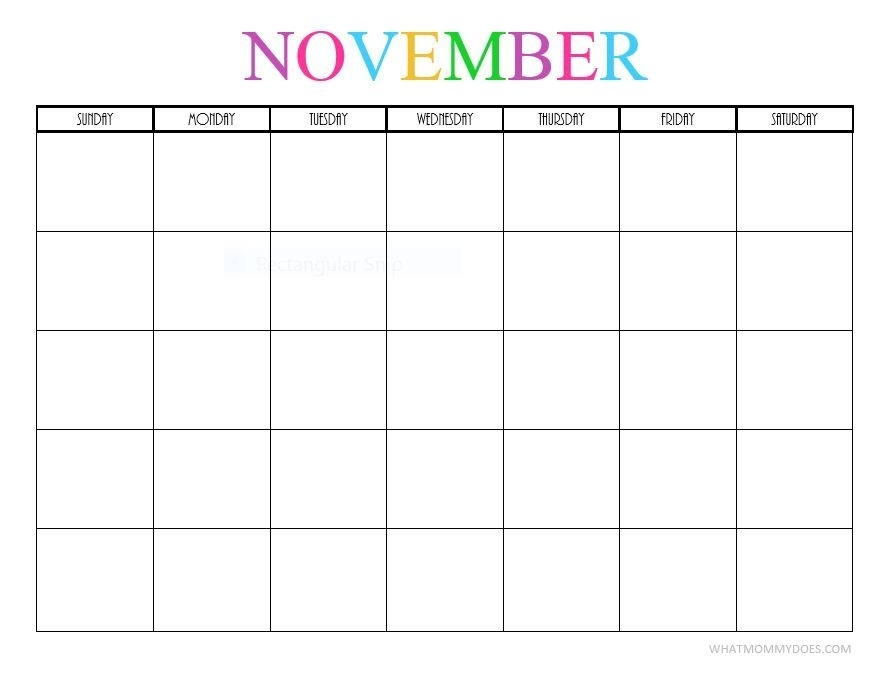 Free Printable Blank Monthly Calendars – 2019, 2020, 2021