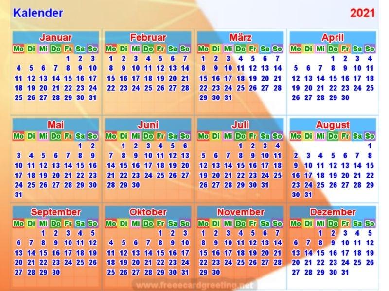 Januar Februar 2021 Kalender | Qualads
