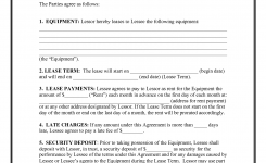 10 Best Images Of Equipment Rental Agreement Template Free Simple