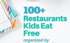 100 Restaurants Where Kids Eat Free Tonight Organized Day Of Week