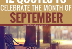 September Quotes Saying