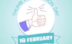 18 February Thumb Appreciation Day Royalty Free Vector Image