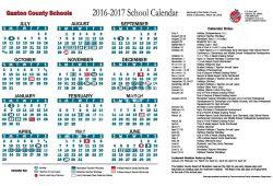 Gaston County Schools Calendar