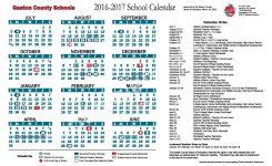 2016 2017 School Calendar Gaston County Schools Gastonia Nc