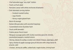 2016 Easter Restaurant Menu Template