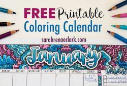 Free Printable Childrens Calendars