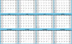 2017 Yearly Wall Calendar 12 Month Horizontal Planning At A Glance