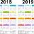 2019 18 Calendar Printable