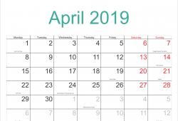 October 2019 Calendar Printable With Holidays