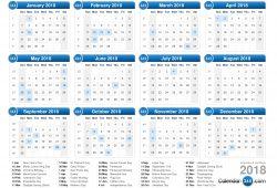 Calendar 365 Com 2018 Usa