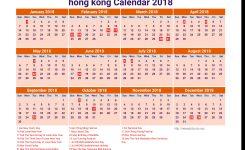 2018 Calendar Hong Kong Printable Calendar Templates