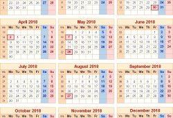 Uk Calendar 2018 With Bank Holidays