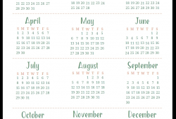 2018 Calendar Landscape Year Overview Letter
