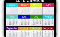 2018 Calendar Mouse Pad Anti Slip Desktop Mouse Pad Gaming Mouse Pad