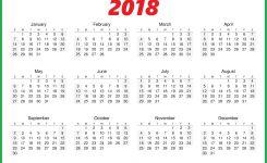 2018 Calendar One Page Printable Calendar Templates