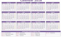 2018 Calendar Templates And Printable Printable Monthly Calendar